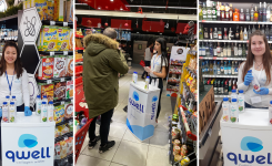 Qwell – degustation campaign in Fantastiko stores